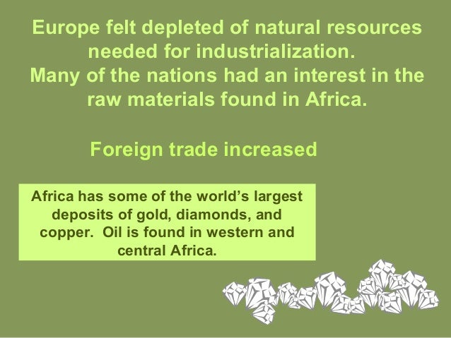 Natural Resources Needed For Industrialization