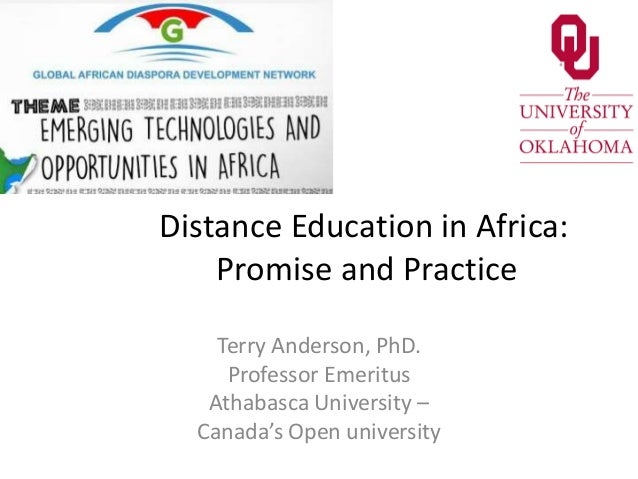 Distance Education- Emerging Technologies and Opportunities