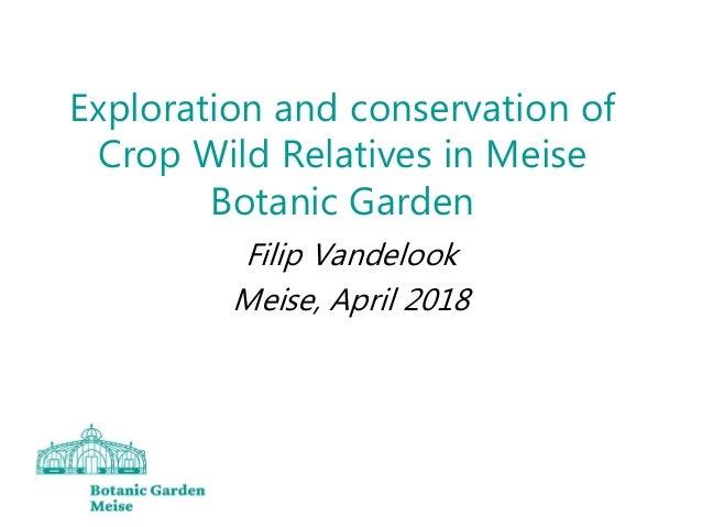 Exploration and conservation of Crop Wild Relatives in Meise Botanic Garden Filip Vandelook Meise, April 2018