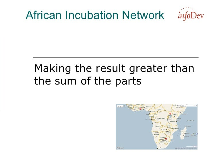 African Incubation Network Making the result greater than the sum of the parts