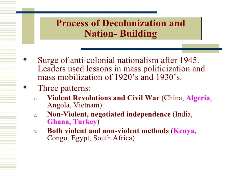 ccot nationalism and decolonization in south Analyzing decolonization in india and vietnam through a global perspective isabela  religion & decolonization - nationalism & decolonization  (ccot) differences.