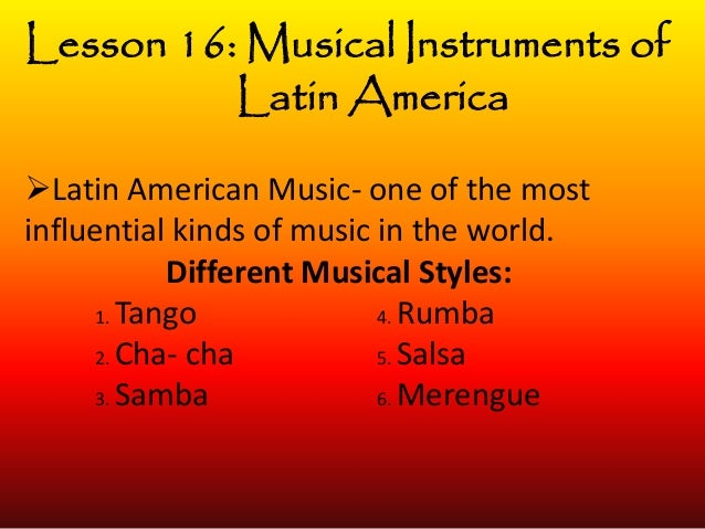music of latin america essay The center for latin american studies is pleased to announce the launch of  of  art in latin america, wrote an essay on the cecilia vicuña: palabrarmas exhibit   romance languages and literatures enthusiastically writes about the music of.