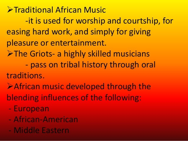 african music cultural background