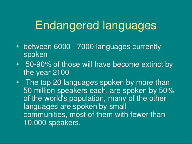 African Literacy And Languages - Top 20 languages in the world
