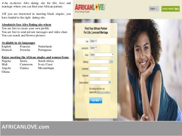 Completely free dating sites in africa