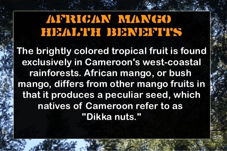African Mango Irvingia Gabonensis Health Benefits