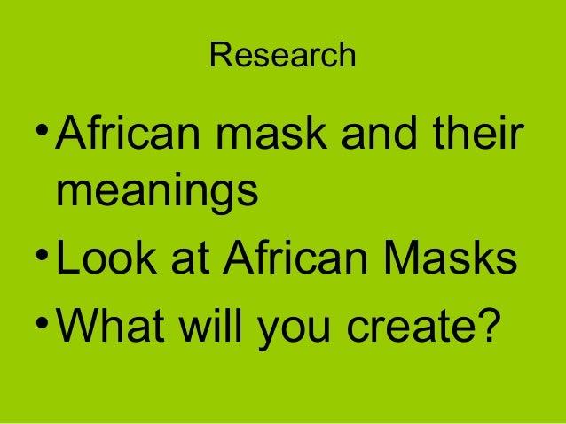 african mask characteristics