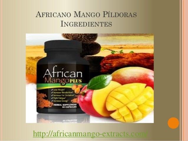 AFRICANO MANGO PÍLDORAS      INGREDIENTEShttp://africanmango-extracts.com/