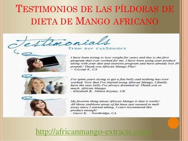 Mango africano testimonios