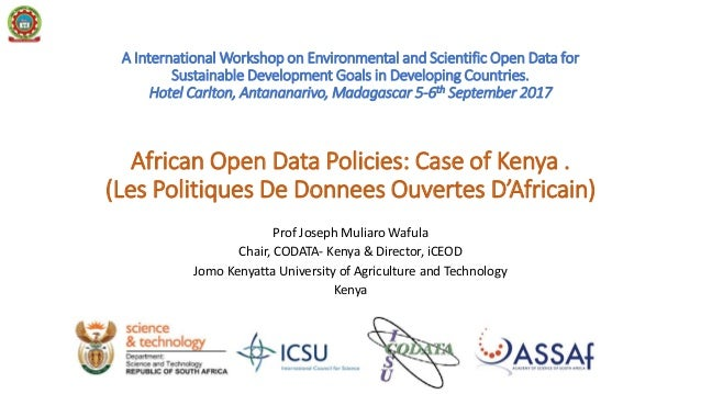 A International Workshop on Environmental and Scientific Open Data for Sustainable Development Goals in Developing Countri...