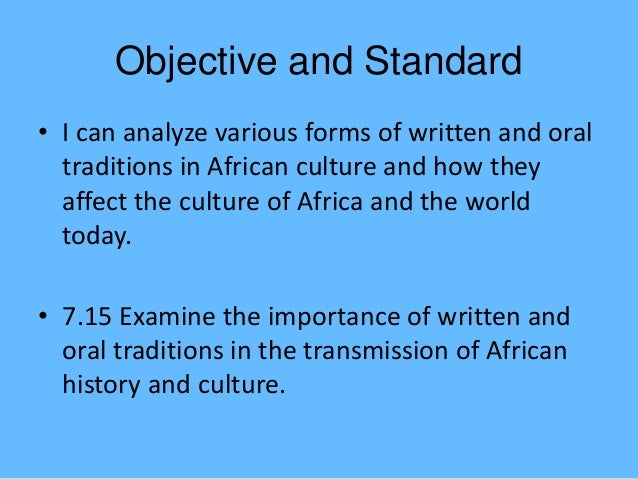 African oral tradition forms and relevances