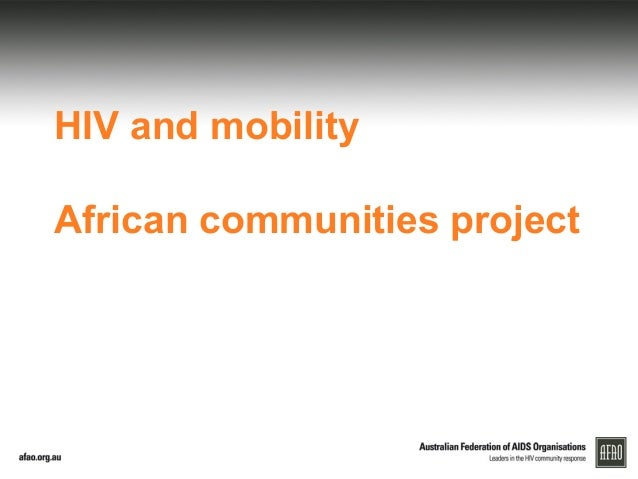 HIV and mobility African communities project