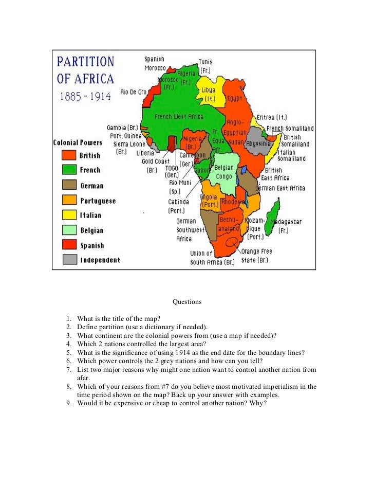 Partition Of Africa Map.Africa Partitionmap