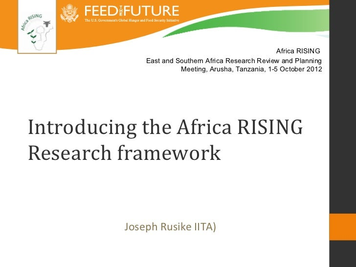 Africa RISING              East and Southern Africa Research Review and Planning                        Meeting, Arusha, T...