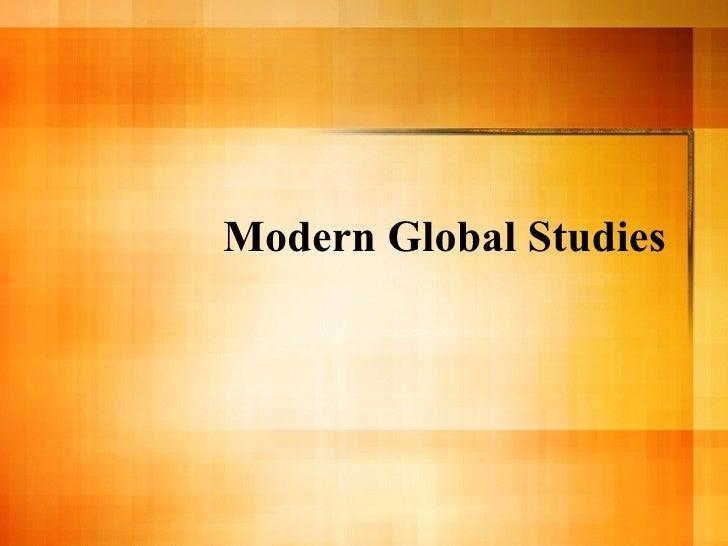 Modern Global Studies