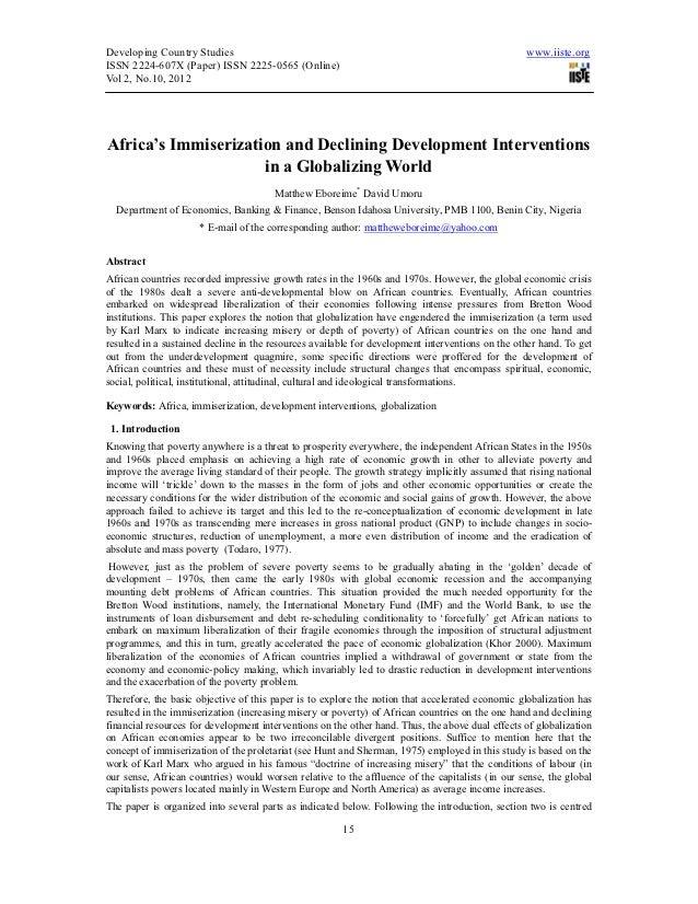 Developing Country Studies                                                                        www.iiste.orgISSN 2224-6...