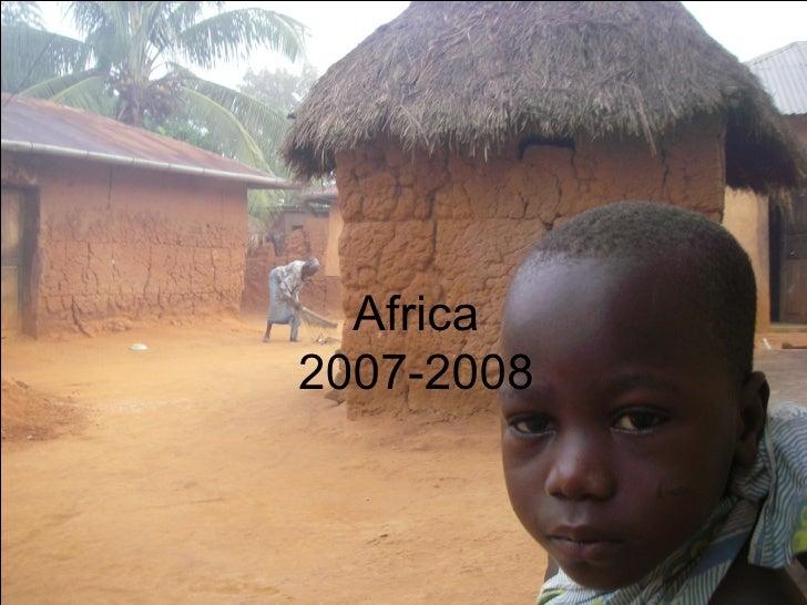 Africa 2007-2008