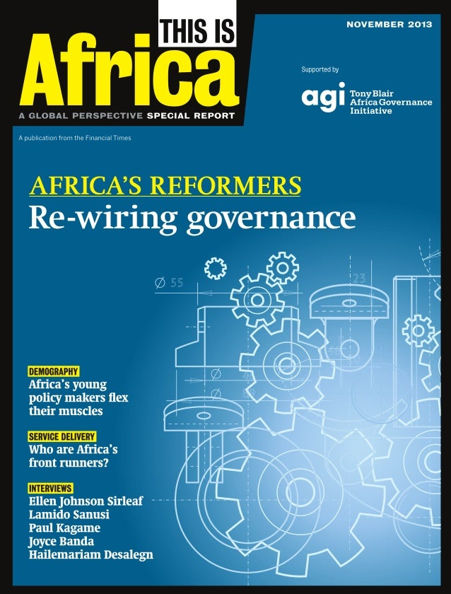 """Foreword Nick Thompson  Effective governance: From potential to progress  """"S  ub-Saharan Africa is rich in resources, tale..."""