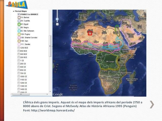 L'Àfrica dels grans imperis. Aquest és el mapa dels imperis africans del període 2750 a 8000 abans de Crist. Segons el McE...