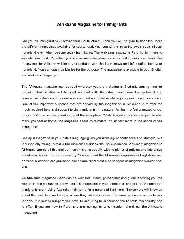 How to write a magazine article ks 360