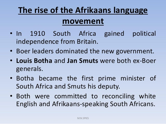 essay discuss the various reasons for the rise of afrikaner nationalism in the 1930s