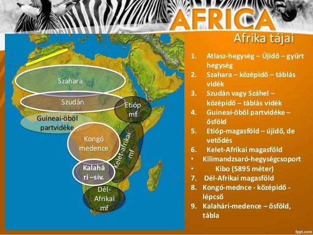 afrika tájai térkép Afrika természeti képe   7. osztály afrika tájai térkép