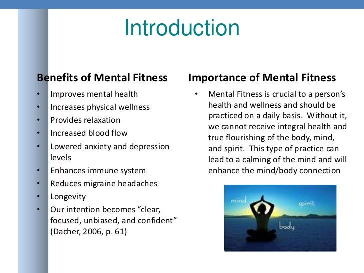 Mental fitness powerpoint presentation