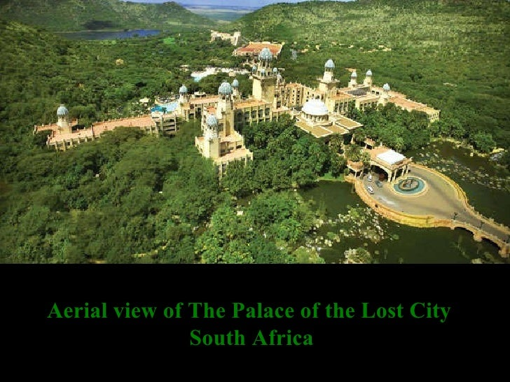 Aerial view of The Palace of the Lost City  South Africa
