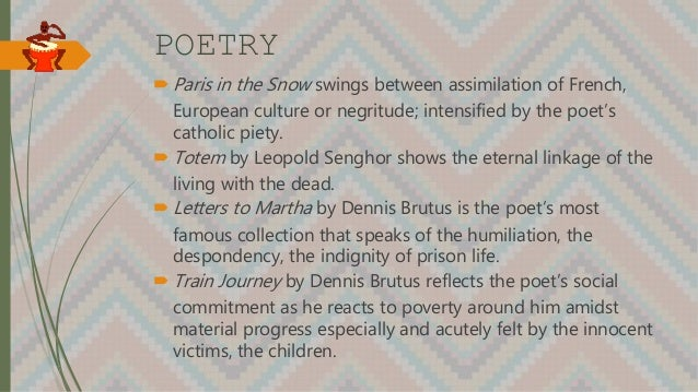 POETRY  Paris in the Snow swings between assimilation of French, European culture or negritude; intensified by the poet's...