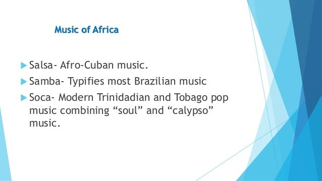 afro cuban music essay Get custom essay sample written according to your requirements  to a large  extent, the afro-cuban jazz was a direct descendant of the bebop music of.