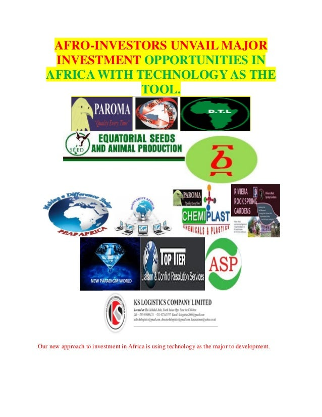 AFRO-INVESTORS UNVAIL MAJOR INVESTMENT OPPORTUNITIES IN AFRICA WITH TECHNOLOGY AS THE TOOL. Our new approach to investment...
