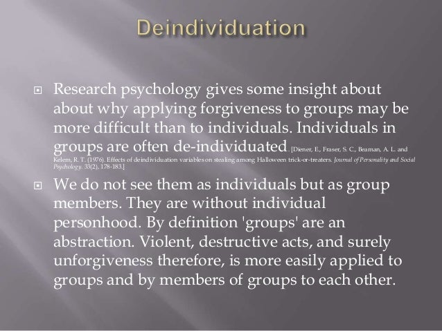    Enright (2001) reports on research indicating    taking the perspective of the persons who have    offended has been s...