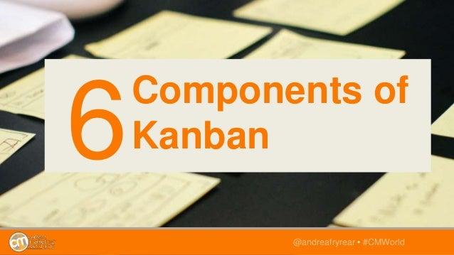 @andreafryrear • #CMWorld Components of Kanban6