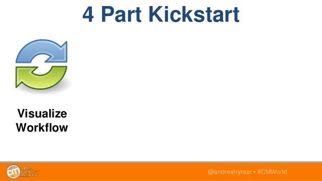 @andreafryrear • #CMWorld Visualize Workflow 4 Part Kickstart