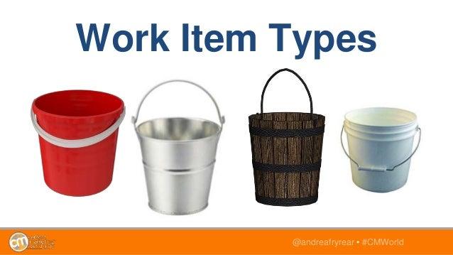 @andreafryrear • #CMWorld Work Item Types
