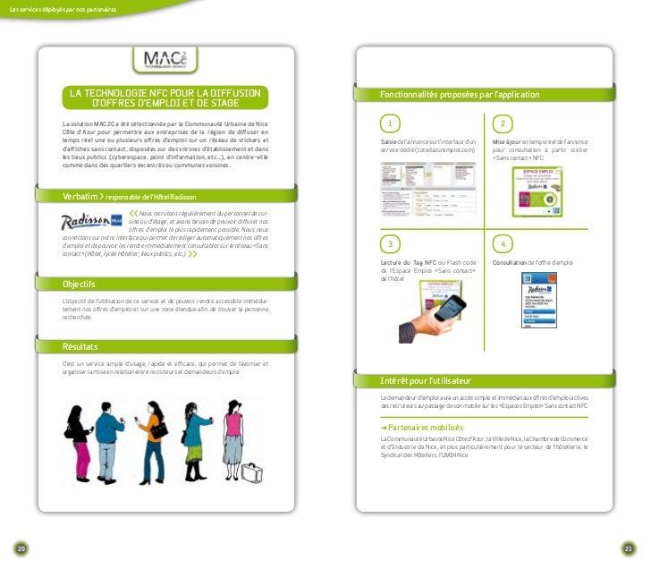 Les services déployés par nos partenaires                       La teCHnoLogIe nfC pouR La dIffusIon                      ...