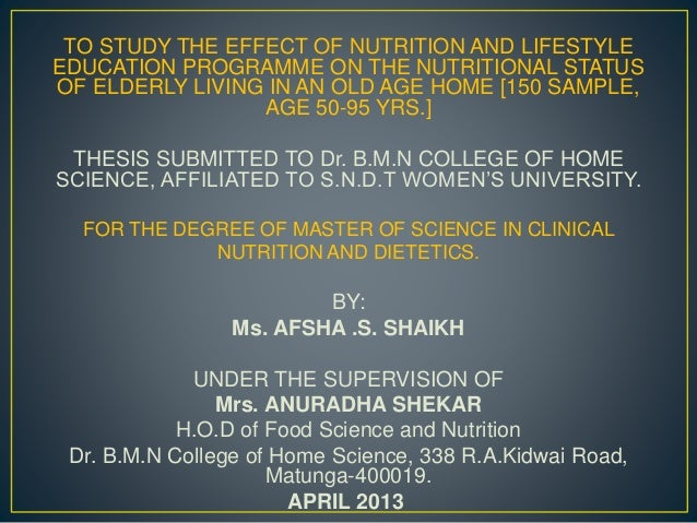nutrition thesis topics