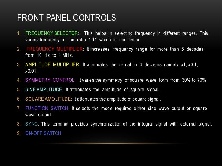 Af signal generator