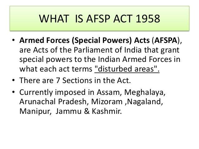 AFSPA ACT 1958 PDF