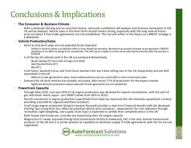 www.autoforecastsolutions.com AutoForecast Solutions Conclusions & Implications • The Consumer & Business Climate • With a...