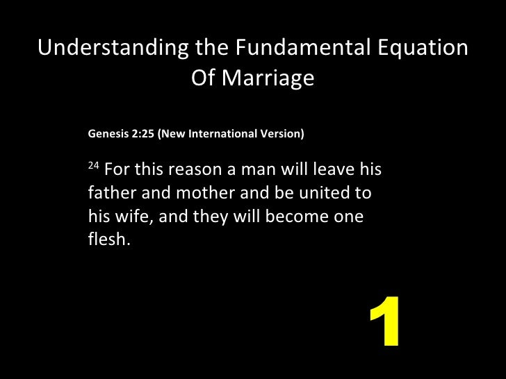Genesis 2:25(New International Version)  24  For this reason a man will leave his father and mother and be united to his...