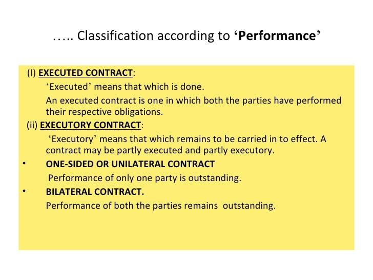 partially executed contract example
