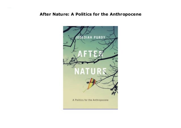 A Politics for the Anthropocene After Nature