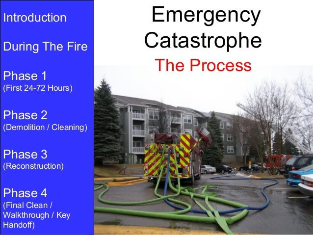 Introduction              EmergencyDuring The Fire           Catastrophe                           The ProcessPhase 1(Firs...