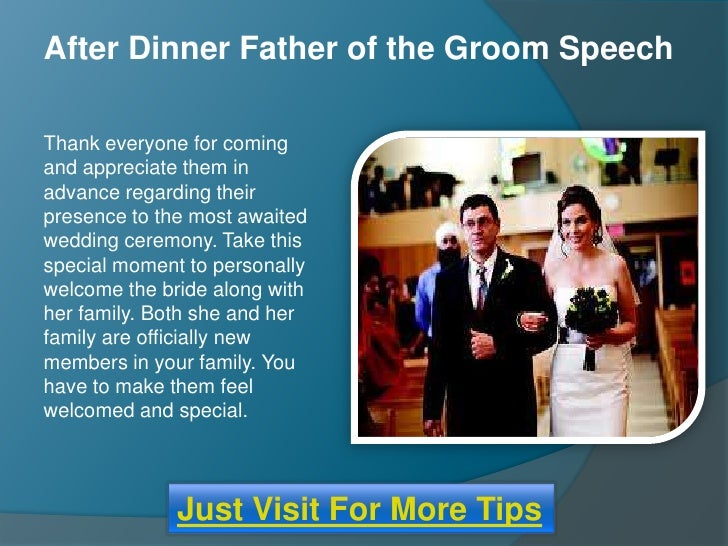 Wedding Day Speeches Father Of The Bride: After Dinner Father Of The Groom Wedding Speech