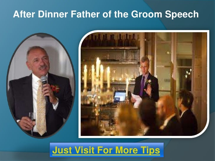 After Dinner Father Of The Groom Wedding Speech