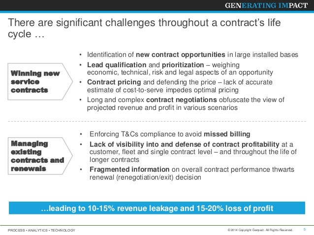 Service Contract Analytics  Leverage Analytics To Improve Revenue An
