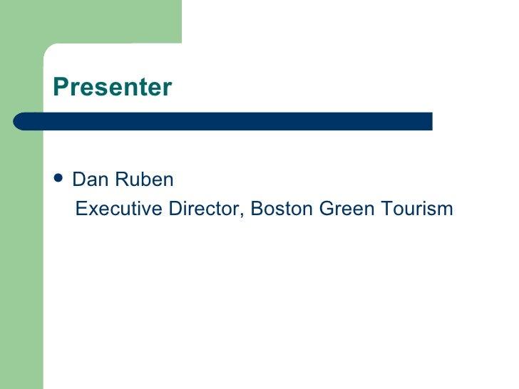 Top 10 Products That Save Money - Dan Ruben, Boston Green Tourism Slide 2
