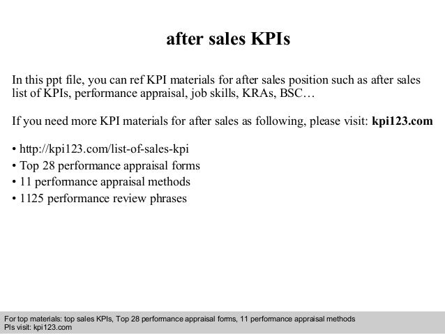 Interview questions and answers – free download/ pdf and ppt file after sales KPIs In this ppt file, you can ref KPI mater...