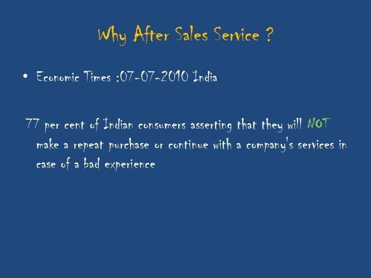 After sales service Slide 2